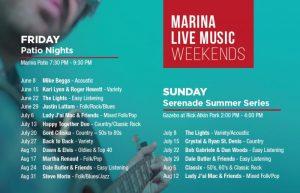 Leamington Marina Live Music Weekends (Friday Patio Nights & Sunday Serenade Summer Series) Poster