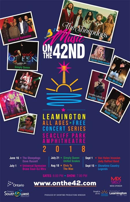 Leamington Music Onthe42 Summer Concert Series Poster