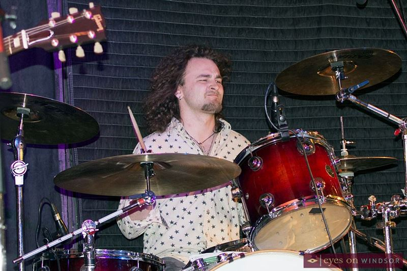 Noah Gecelovsky, performs at Jeff Burrows 24 Hour Drum Marathon