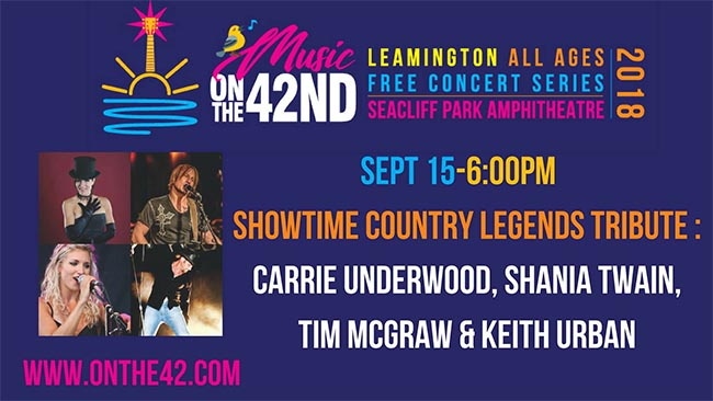 Showtime Country Music Legends Tribute Leamington Music OnThe42 Concert