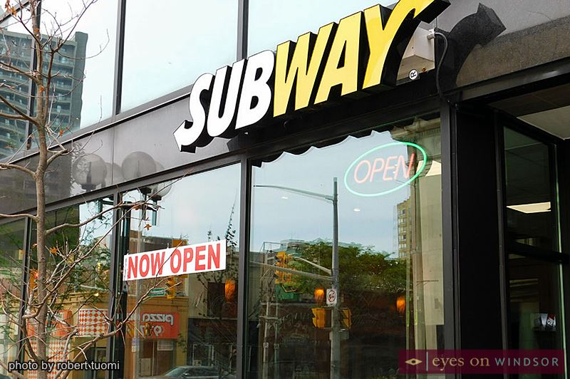 Subway restaurant in downtown Windsor.
