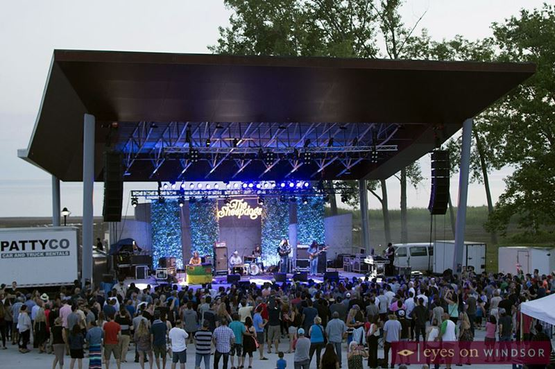 The Sheepdogs on the Seacliff Park Amphitheatre Stage.