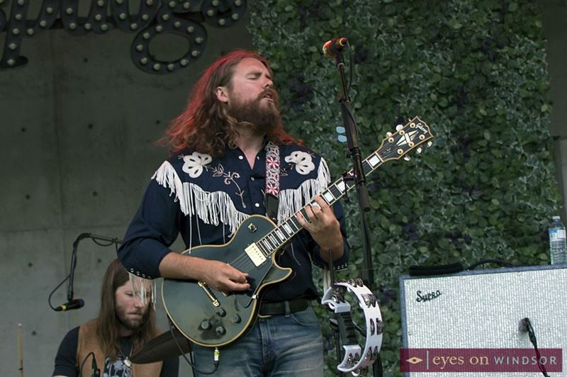 Ewan Currie, vocalist and guitarist for The Sheepdogs.