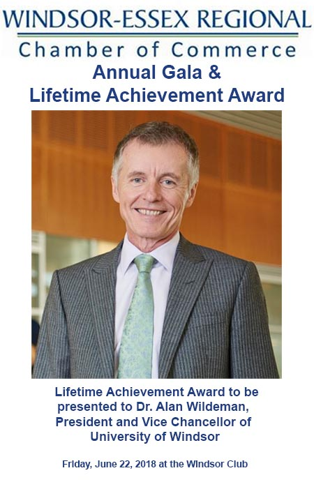 Annual Windsor-Essex Regional Chamber of Commerce Gala featuring the Lifetime Achievement Award Poster