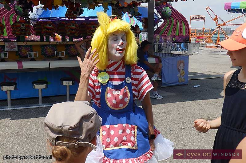 Clarol The Clown at Windsor Summerfest.