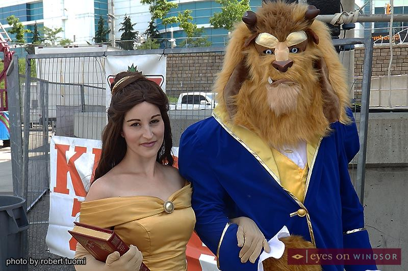 Enchanted Adventure Parties characters Beauty and the Beast at Windsor Summerfest.