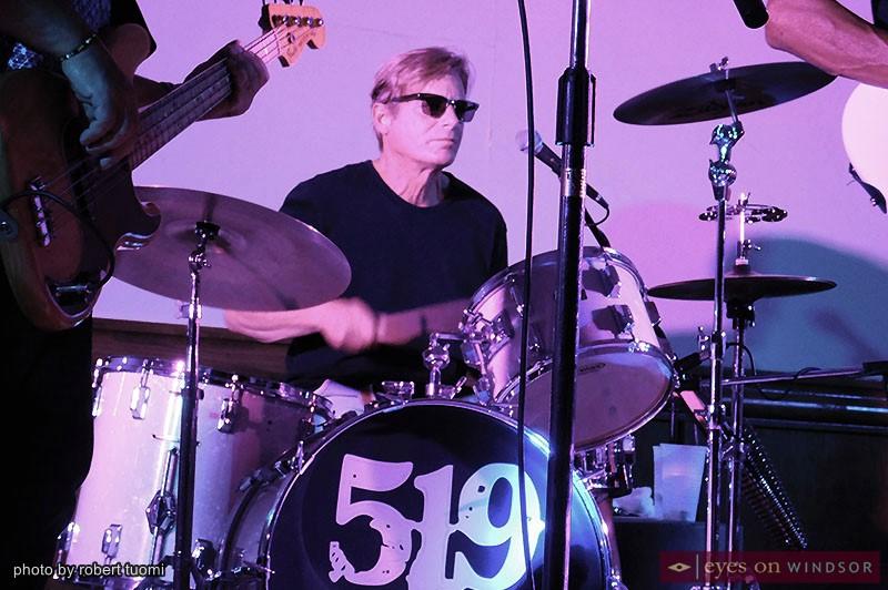 519 Band drummer John Zuliani performing