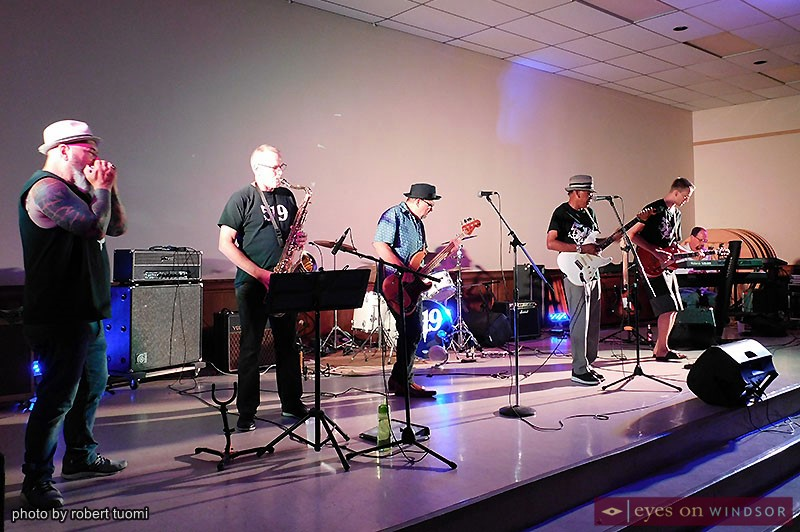 519 Band performing on stage