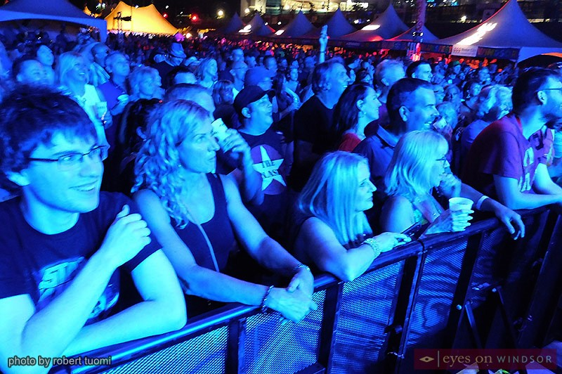 Bluesfest Windsor audience enjoying Eddie Money.