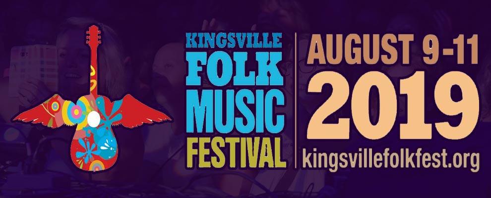 Kingsville Folk Music Festival Banner Slider