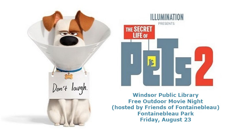 Windsor Public Library Outdoor Movie Night Poster