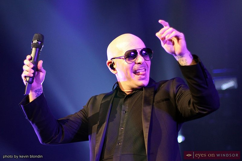 Pitbull performing at Caesars Windsor.