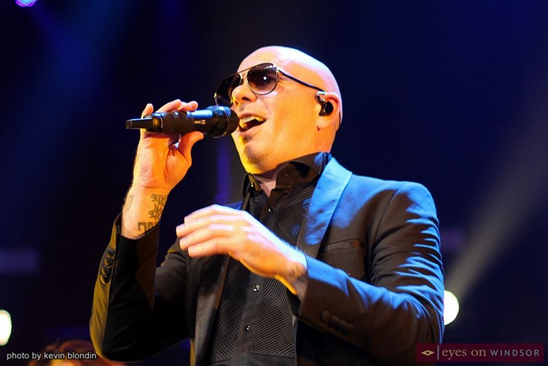 Pitbull singing at Caesars Windsor