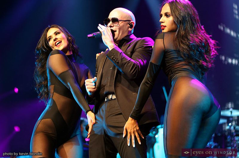 Pitbull and dancers at Caesars Winsdor