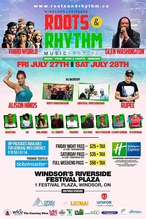 Windsor Caribbean Roots & Rhythm Music Festival Poster