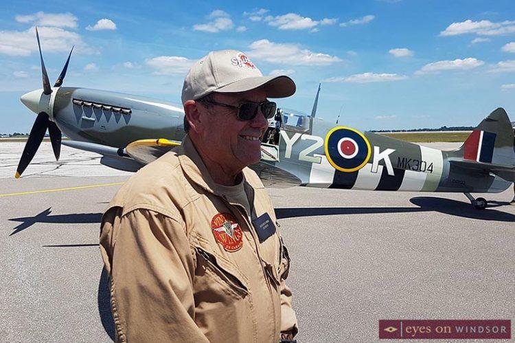 Roseland Spitfire WWII Fighter Plane Lands In Windsor For Public To Enjoy