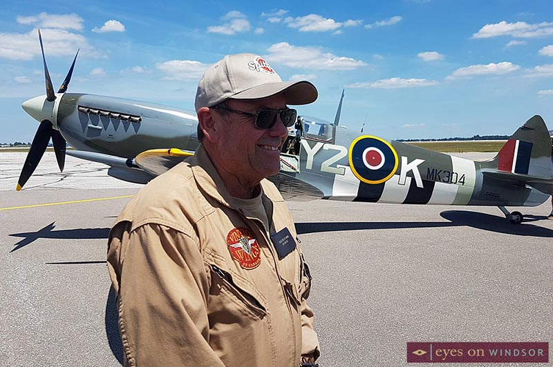 Dave Hadfield with the Roseland Spitfire