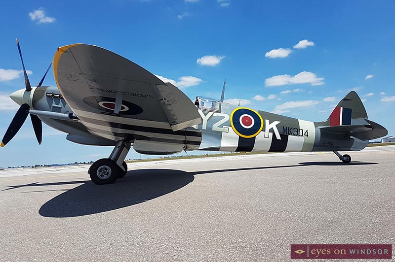 Roseland Spitfire at Windsor International Airport