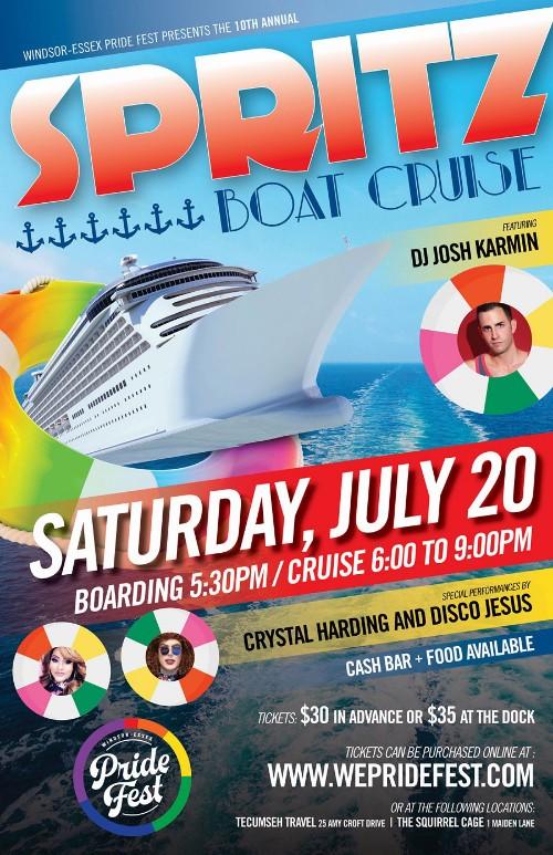 Spritz Boat Cruise Windsor Pride Fest Poster