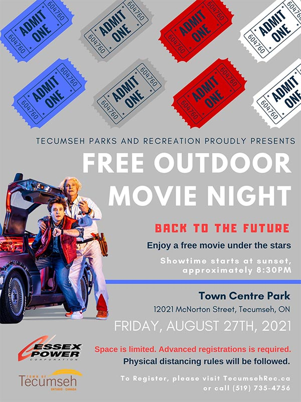 Tecumseh Outdoor Movie Night Posters