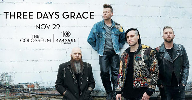 Three Days Grace To Rock Caesars Windsor