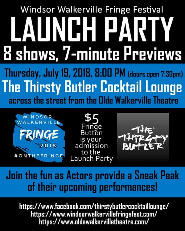 Windsor Walkerville Fringe Festival Launch Party Poster