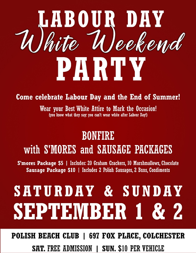 Polish Club Windsor Labour Day White Weekend Party Poster