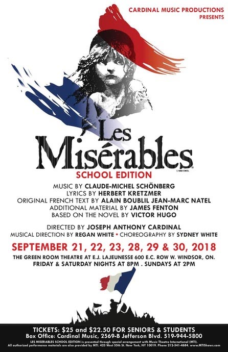 Les Misérables Presented by Cardinal Music Productions Poster