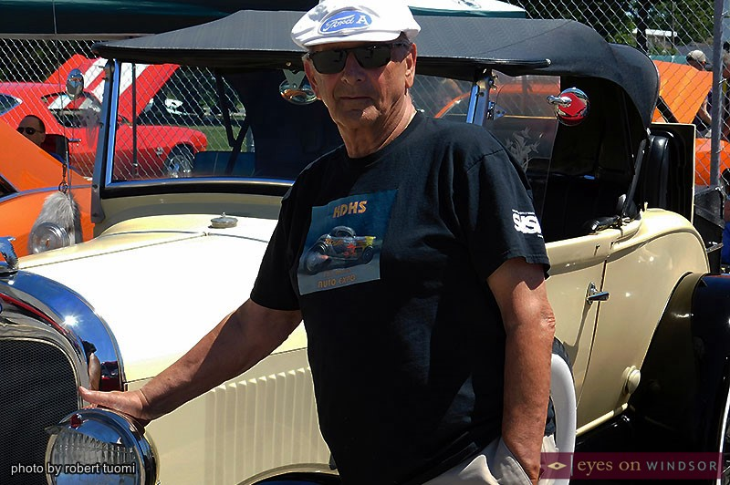 Norm Taylor With His 1928 Ford Model A Roadster