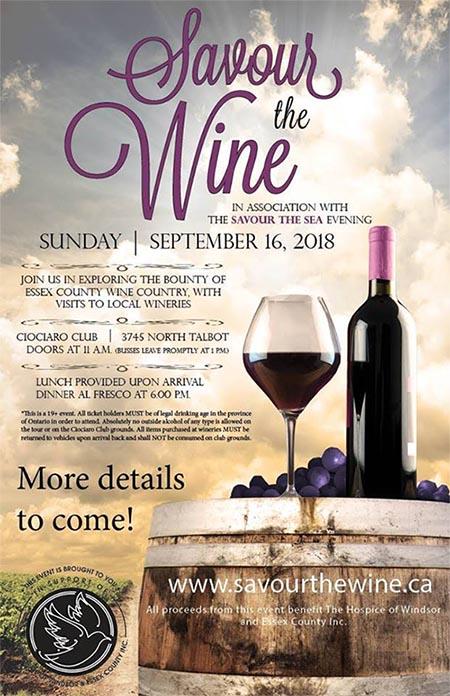 Savour The Wine Tour Poster