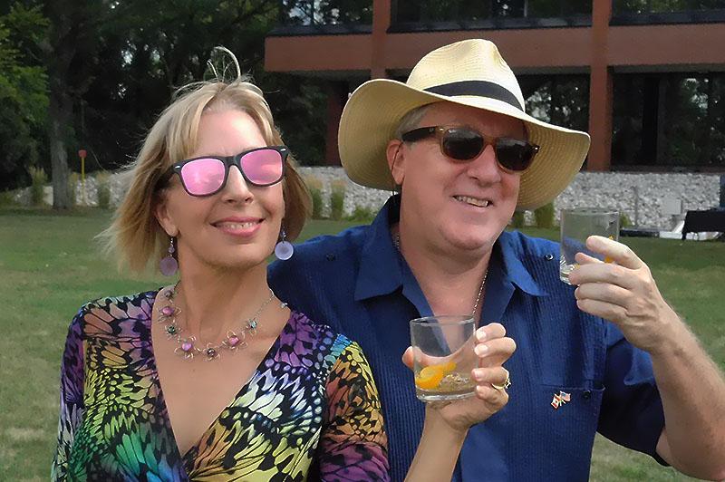 Elaine Weeks and Chris Edwards Toast To Detroit