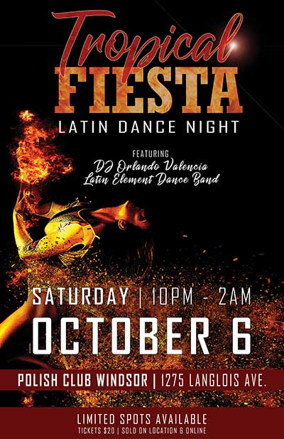 Tropical Fiesta: Latin Dance Night Poster