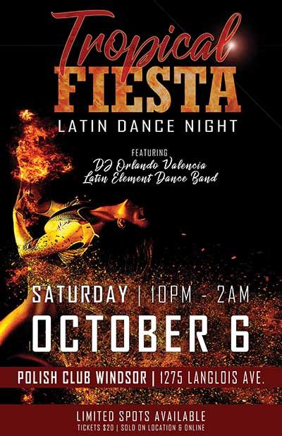 Tropical Fiesta: Latin Dance Night Poster