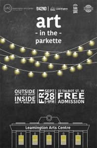 Art In the Parkette Leamington Poster