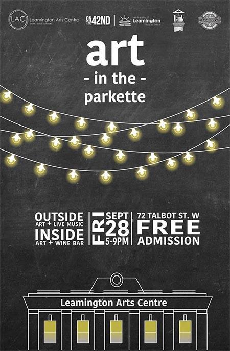 Art In the Parkette Leamington Poster
