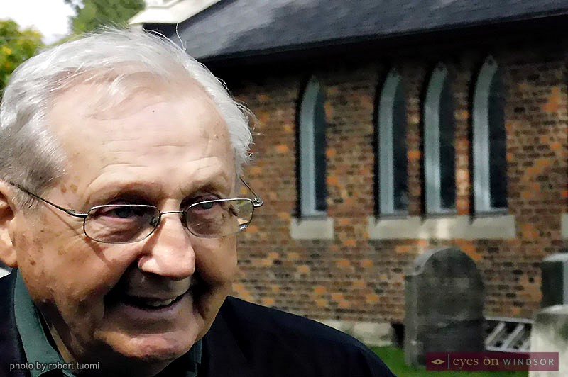 Bill Jones during Doors Open Windsor at St. John's Anglican Cemetery