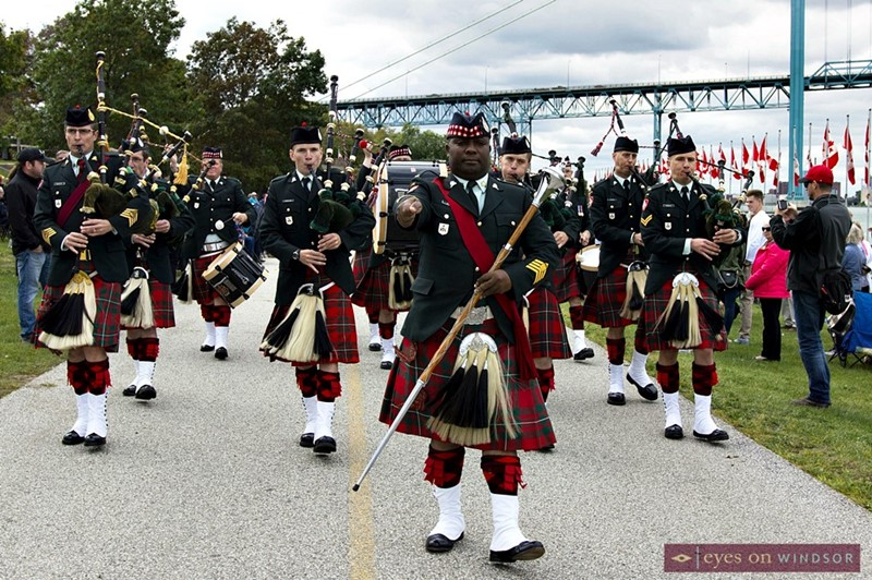 The Essex and Kent Scottish Regiment Pipes and Drums Band
