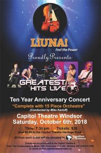Greatest Hits Live 10 Year Anniversary Concert Poster