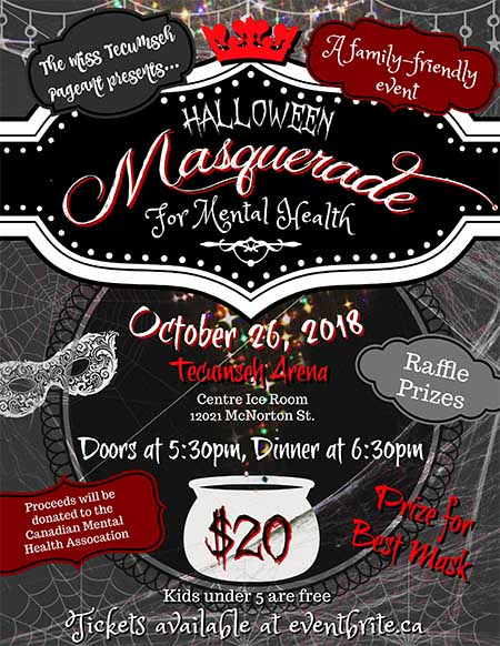 Halloween Masquerade For Mental Health
