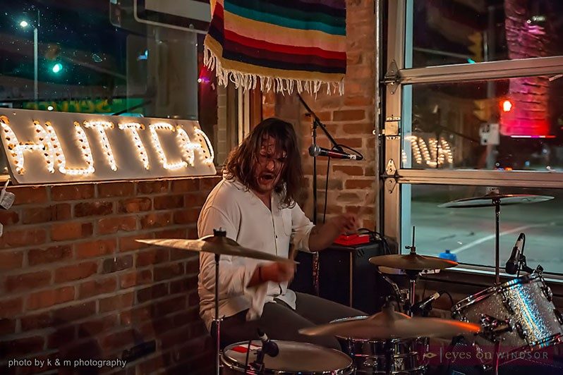 Robbie Cervi on drums