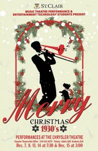 Merry Christmas 1930's Poster