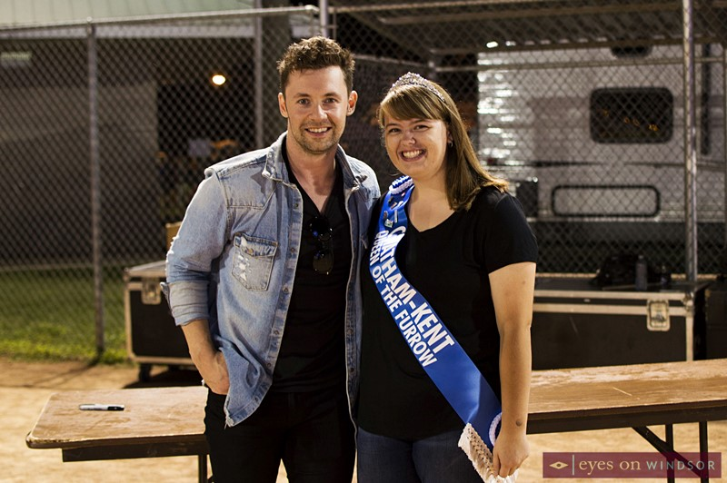 Canadian Country Music's Shawn Austin with 2018-2020 Chatham-Kent Queen of the Furrow, Lauren Kerrall