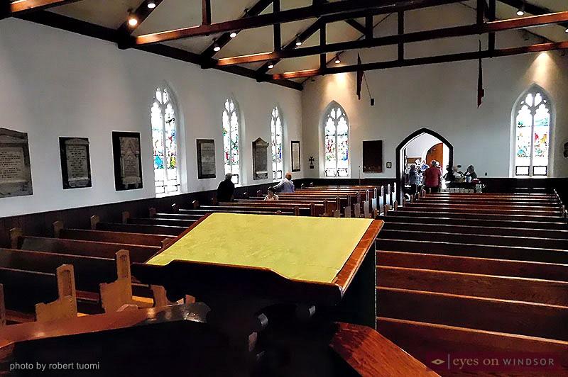 Inside St. John's Anglican Church in Sandwich Town