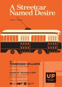 UP Windsor Presents A Streetcar Named Desire Poster