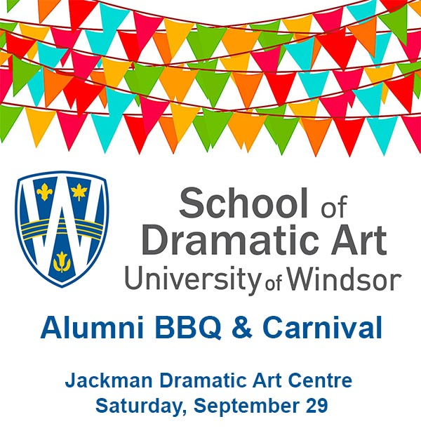 UWindsor School of Dramatic Art Alumni BBQ & Carnival Poster