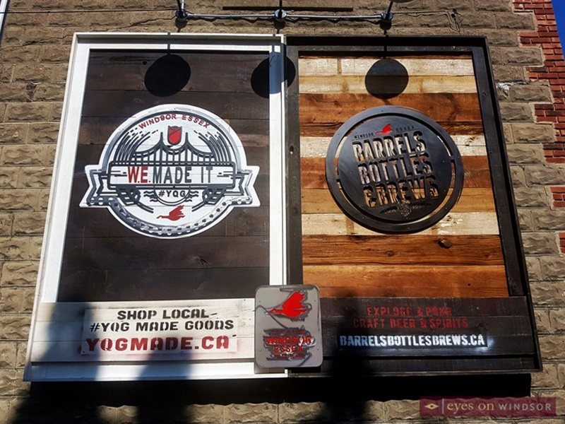 TWEPI W.E. Made It YQG, and Barrels, Bottles, and Brews. custom made wooden signs