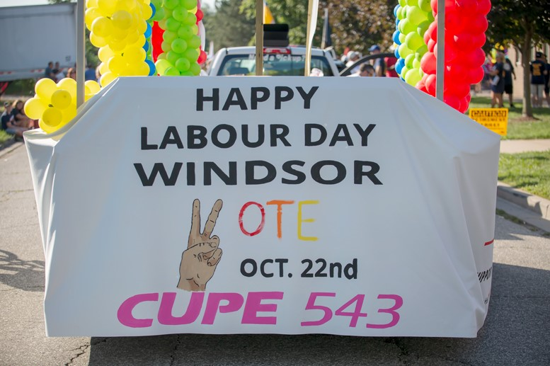 CUPE 543 Labour Day Parade float