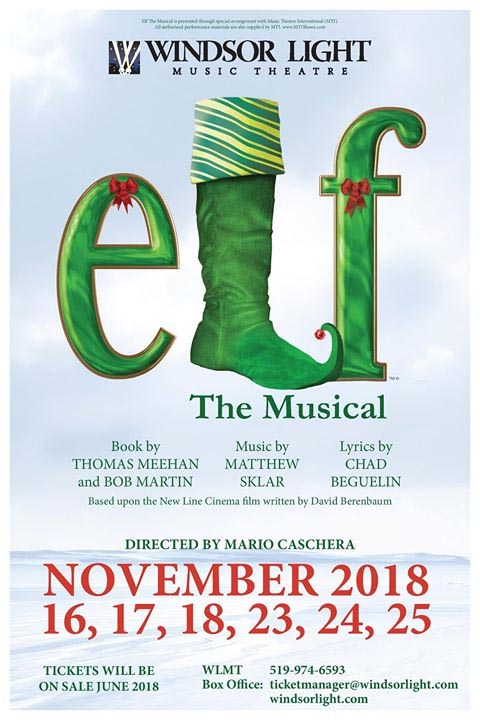 Windsor Light Music Theatre Elf The Musical Poster