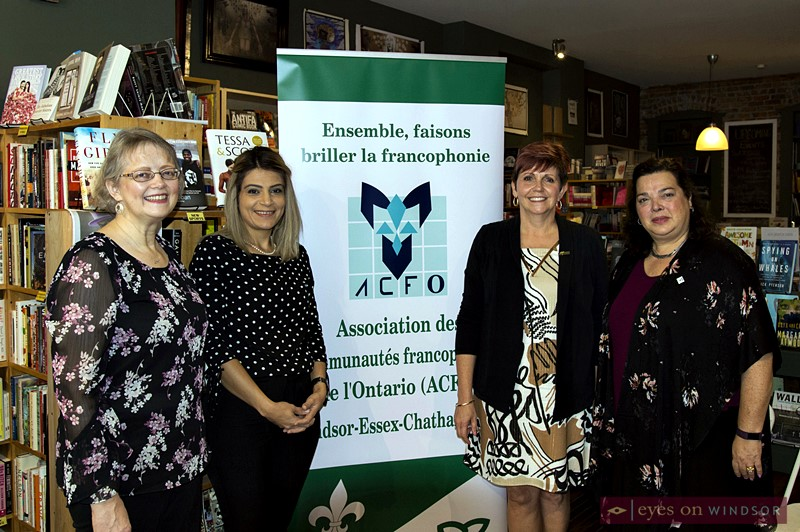 Francophone community representatives during the 2018 Bookfest Windsor press conference.