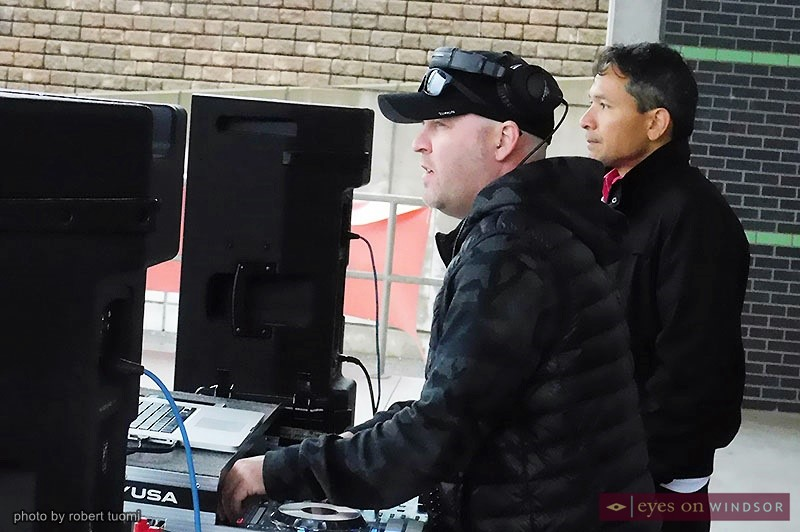 DJ Urban Kris and Bob Bellacicco during the CIBC Run For The Cure